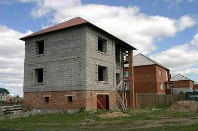 Процесс стройки из ячеистого бетона